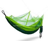 [بورتبل] يخيّم مظلّة هبوط نيلون ضعف اللون الأخضر سرير معلّق خيمة مع [موسقويتو نتّينغ]