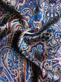 Preciosa blusa de gasa Imprimir Tejido de poliéster 100% tejido de gasa vestido de noche