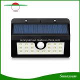 Nueva luz solar del jardín de 20 LED con el sensor de movimiento de PIR y la luz dévil