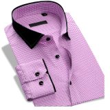 Longue chemise de robe formelle de coton de chemise d'arrivée neuve pour les hommes