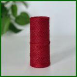 Gefärbtes Jutefaser-Garn (rot) für die Gestaltungsarbeits-Herstellung