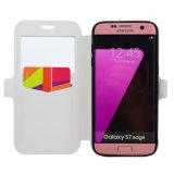 Móvil de la PU/caja de cuero del teléfono celular para Samsung S7