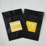 Fastfood- Folie Matelized Teebeutel Matt-Aliminum mit Reißverschluss