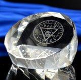 De Ambacht van de Presse-papier van de Kubus van het Glas van het kristal voor Bureau