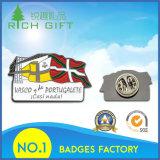 Distintivo del regalo del metallo di colore della bandierina quattro di modo di alta qualità personalizzato