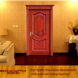 Sola puerta de talla de madera de lujo interior (GSP2-062)