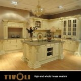 Abitudine bianca Tivo-051VW della Camera dell'armadio da cucina della lacca di lucentezza della mobilia del salone della pittura intera