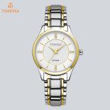 Het Glanzende Kwarts van uitstekende kwaliteit van het Horloge van de Vrouwen van de Mannen van de Tijd van de Datum van het Geval met Wit Gezicht 72843