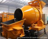 Beweglicher mobiler Schlussteil-Dieselbetonpumpe mit Mischer