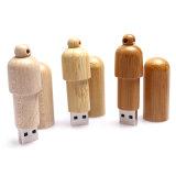 Pubblicità dell'azionamento di legno del USB del USB dell'istantaneo del commercio all'ingrosso su ordinazione dell'azionamento