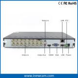 16CH 720p CCTVのアナログかAhd/Tvi DVR