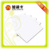 Cartão em branco do PVC do branco com a folha de prova para a impressão