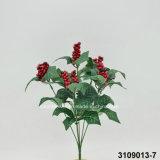 Bayas artificiales/plásticas Bush (3109013-7) de la Navidad
