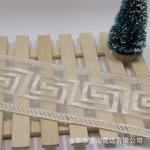 De malla de encaje de fábrica al por mayor de 8 cm Ancho bordado Organza neto de encaje para las prendas / Textiles para el Hogar / Cortinas Accesssory