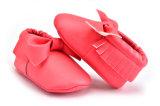 Le cuir véritable doucement unique chaud de mode de vente de qualité badine des chaussures