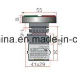 De ver*lichten-vierkante HoofdSchakelaar van de Drukknop van het Type (LA118MLS)