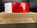 Bande r3fléchissante d'animal familier du POINT C2 rouge et blanc avec le film de réseau cristallin