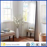 寝室の居間のためのミラーの床ミラーに服を着せる立つ2mmから6mmの斜めガラス