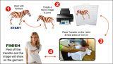 A4 la taille 100GSM jeûnent papier sec de la sublimation (100sheets/packet) pour des imprimantes à jet d'encre sur le papier sec f de sublimation de la taille 100GSM des cadeaux productionA4 rapidement (100sheets/packet)