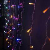 중국 공급자 6*3m 옥외 크리스마스 또는 당 사용을%s 600LED 커튼 빛 폭 25LED/하락 끈 합계 24PCS 끈