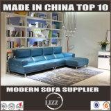 Meubles L divan de salle de séjour de Guangzhou de cuir de forme