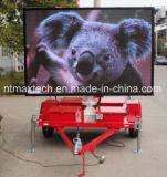 표시 교통 표지 도로 관리를 광고하는 트레일러에 의하여 거치되는 풀 컬러