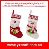 Материал украшения каталога чулка рождественской елки украшения рождества (ZY14Y590-1-2)
