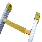 (375LBS) Aluminum Alloy 단 하나 Side Grooved Rails Extension Ladder
