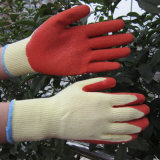 10g ondulée Polyester des gants de latex gant de travail d'impact