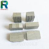 segmentos del diamante de 24X8.4/7.6X15m m para el corte por bloques de la piedra del granito