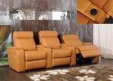 وقت فراغ إيطاليا جلد أريكة أثاث لازم (823)