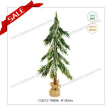 Decoração artificial decorativa do Natal da árvore de Natal do PE ao ar livre de H100-140cm