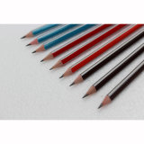 Crayons triangulaires de qualité avec l'embout noir et la gomme à effacer blanche
