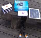 sistema ligero solar de los kits de la iluminación de 2PCS 2W LED para los cuartos caseros