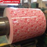 La couleur a enduit la bobine en acier PPGI de couleur du modèle de fleur