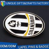 A fábrica de metais personalizados promocionais Monograma Pin de lapela com tampa de borboleta