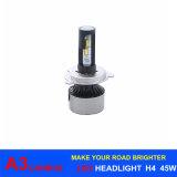 Canbus LED自動ランプ45W 6000lm A3 H4車LEDのヘッドライトH1 H3 H7 H11 H13 9005 9006 H16 6000k