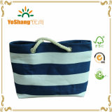 2016 Venta caliente simple patrón de onda lienzo bolsa de playa Bolsa de compras
