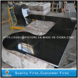 Custom Best Pulido Absoluto Shanxi Black Granite Stone Kitchen Countertops