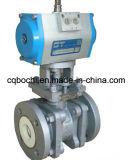 Válvula de esfera cerâmica resistente à corrosão pneumática