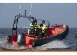 Aqualand 26feet 8m Non-Air 채워진 관 늑골 경비 Boat/EVA Soliad 거품 구조망 구조 배 (rib800)