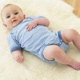 高品質のオーストラリアの羊皮の赤ん坊の敷物の幼児Lambskinの敷物
