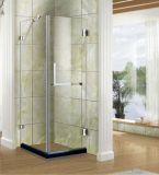 Quarto de chuveiro da ferragem do vidro S/S 304 do banheiro e cerco simples do chuveiro