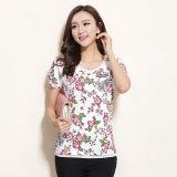 La copie de Flora des nouvelles femmes de modèle d'été conçoivent le T-shirt en fonction du client