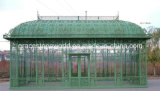 Vert en fer forgé en acier galvanisé Gazebo, effet de serre de fer de grande taille