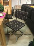 Металл PU квадратной ткани кожаный обедая стул (OL17109)