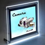 Cristal delgado magnético LED que hace publicidad del rectángulo ligero