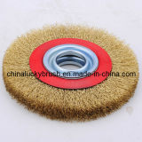 Roda de escova circular de aço inoxidável de 5 polegadas (YY-043)