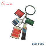 Logotipo impresso de metal personalizado Keyring para Adverting