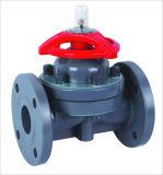Válvula de diafragma de plástico / Válvula de diafragma de PVC / Válvula de diafragma PVDF / Válvula de diafragma termoplástica